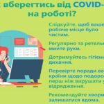Рекомендації щодо профілактики захворювання на коронавірус